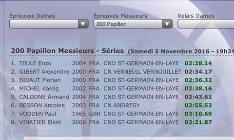 Enzo Teule bat le record de France 12 ans du 200m papillon.